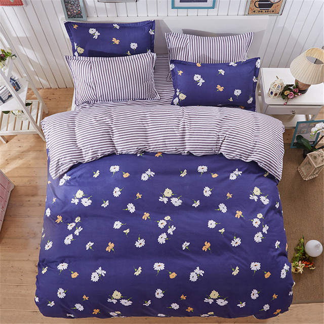 Country Style Fl Kids Bedroom Bedding Set 4pc S Home Textiles Decoration Flower Duvet Cover