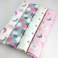Dropshipping 100x76cm 4pcs/pack 100%Cotton flannel Baby Bedd