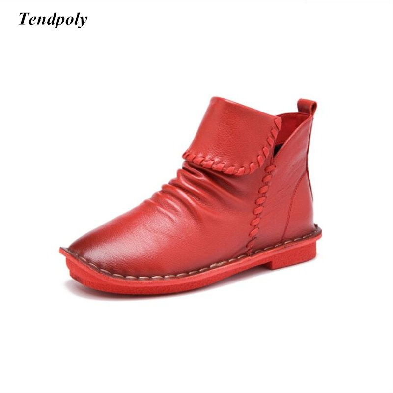 2018 Direct the new spring and autumn leisure round flat solid Women's boots are all-match models selling Cowhide leather shoes dom new fashion quartz luxury brand women s watches waterproof style leather sapphire crystal watch women clock reloj mujer