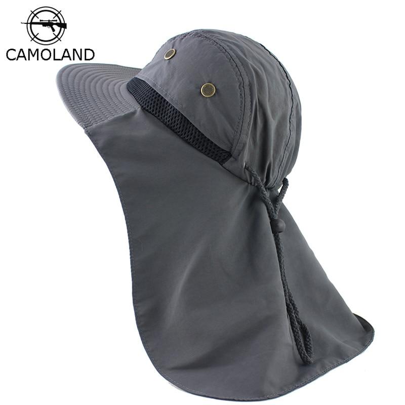 Солнцезащитная шляпа с шлейфом для защитой шеи сзади|Мужские шляпы от солнца|   | АлиЭкспресс