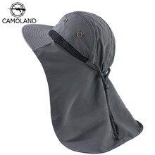 סתיו שמש כובע גברים נשים דלי כובע עם צוואר דש חיצוני הגנת UV גדול רחב שוליים טיולים דיג רשת לנשימה כובע