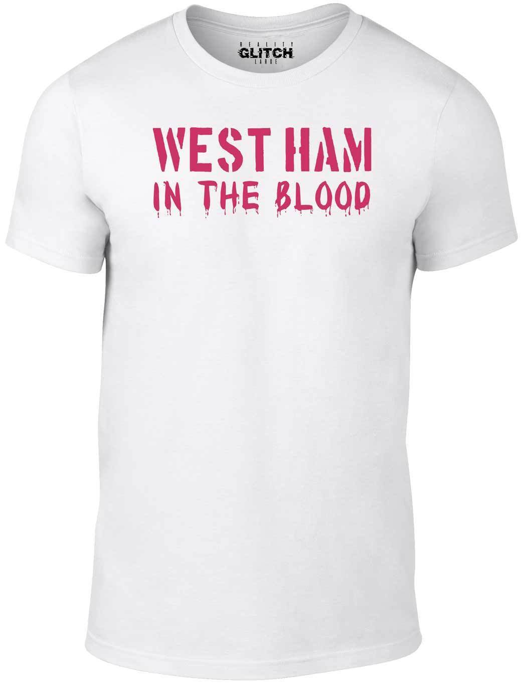 In The Blood Retro Style New T Shirt Football Supporter Hammers  Shirts Funny Tops Tee Unisex