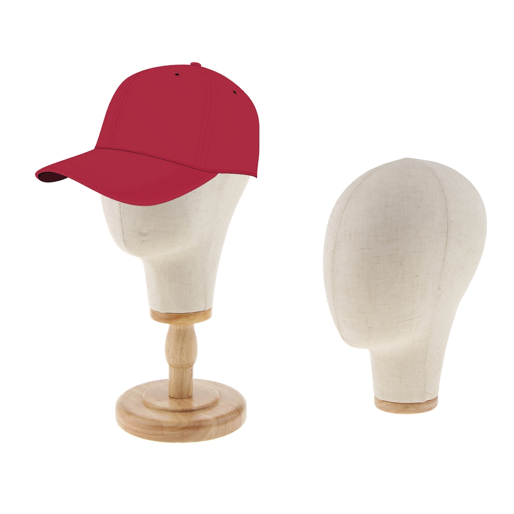 2pcs 21 Beige Color Canvas Mannequin Head For Wigs Hair Styling Hat Caps Display Holder with