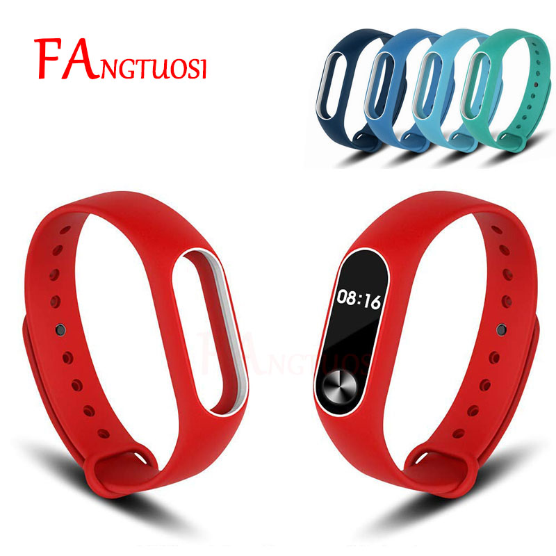 Double color mi band 2 accessories strap miband 2 replacement silicone wrist strap for xiaomi mi 2 smart bracelet wristband miband 2 silicone wrist strap bracelet double color replacement watchband for original xiaomi mi band 2 wristbands belt rubber