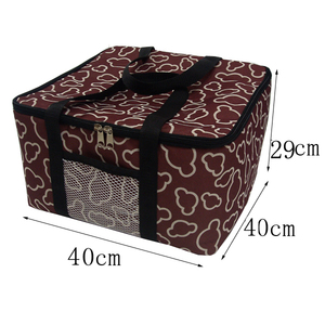 Image 2 - 12inch insulated pizza bag promotional Large thermal Cooler Bag Food Container 40x40x29cm