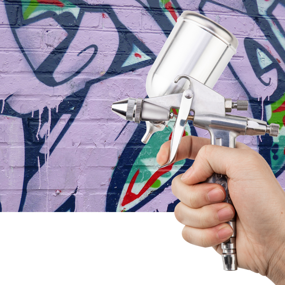 Image 5 - Professional Spray Gun 0.5MM Nozzle Gravity Feed Power Tools Airbrush Spray Gun Mini Air Paint Spray Gun For Painting Car-in Spray Guns from Tools on