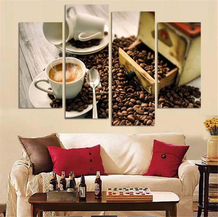 Wall Art Decor For Living Room Online Get Cheap Coffee Wall Art Aliexpresscom Alibaba Group