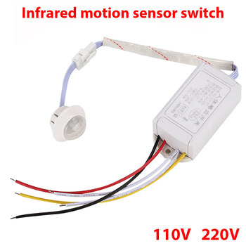 Body Motion Sensor Light Home Automatic IR Withe Motion Sensing Switch Intelligent ABS 110V220V 5 Wire Detector Control Switch hoodie