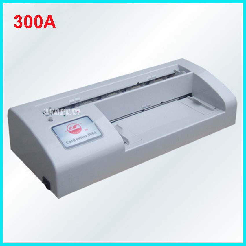 300A Automatic Business A4 Paper Car Machine Name Cutter,110V and 220V  Cutting Machine Cutter  card specifications 90 * 54mm automatic electronic driven cut card cutter to cut pvc id business card punching machine with high speed