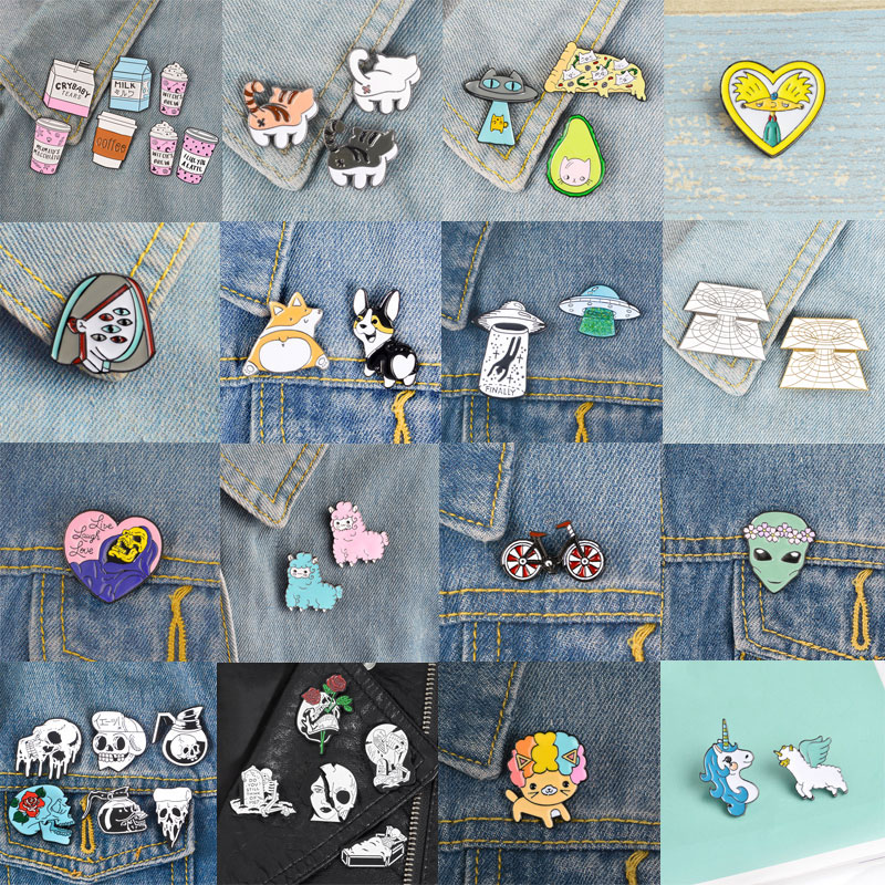 Apparel Sewing & Fabric Dashing Metal Brooch Collar Alloy Brooches Jeans Shirt Handbag Badges On Backpack Pins Carefully Selected Materials Home & Garden