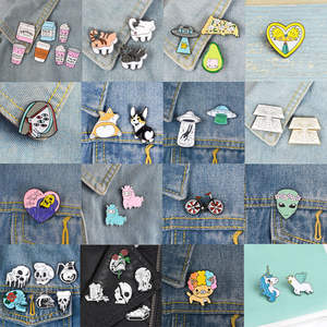 3bef269587bd Gernro Metal Collar Brooches Jeans Badges on Backpack Pins