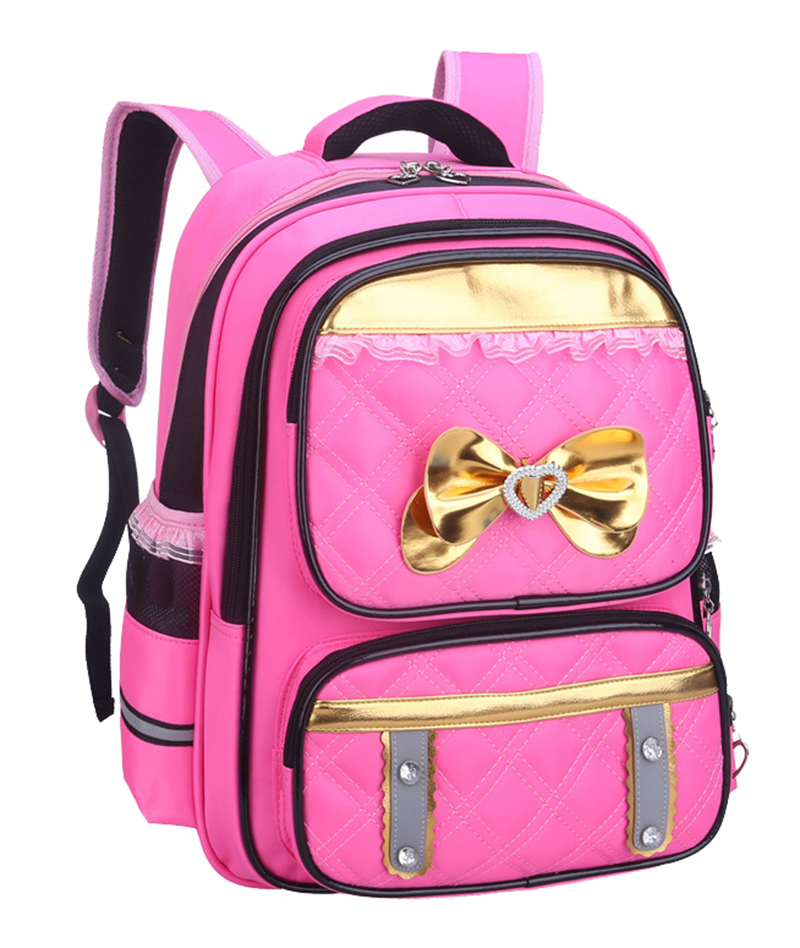 New Fashion Butterfly Girls School Bags Children Backpack Primary Bookbag Orthopedic Princess Schoolbags Mochila Infantil