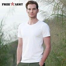 FreeArmy Tshirt Men Off White New Cotton Sweatshirts Solid 3 Colors Plain Male T-shirts Short-sleeved Tops Tee Shirt Man t-shirt