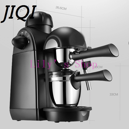 DMWD Household cafe American electric Italian Coffee Maker semi-automatic espresso coffee machine pot Cup home office 5 bar EU недорого