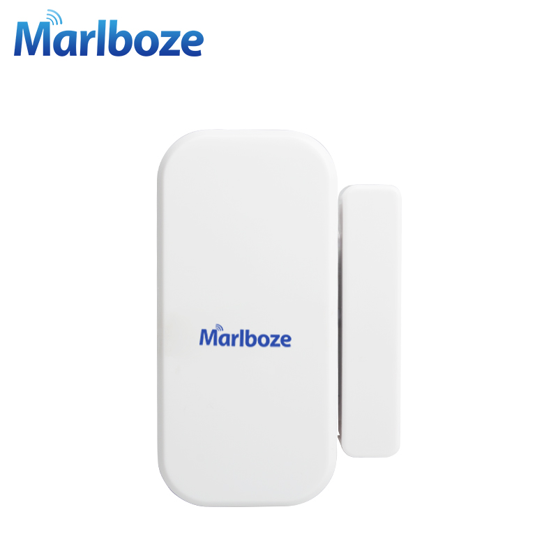 1Pcs Marlboze High Quality 433MHZ Wireless Door Window Sensor Detector for Home Security GSM PSTN Alarm System yobang security gsm pstn alarm 433 mhz wireless home security door window sensor detector telephone line pstn alarm system
