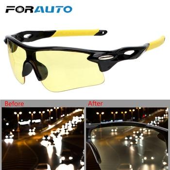 FORAUTO Anti Glare Car Night-Vision Glasses UV Protection Motocross Sunglasses Explosion-proof Night Vision Drivers Goggles