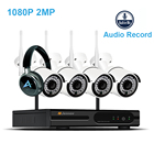 4CH 2MP 1080P HD Home Security Kit CCTV IP Camera System Audio Record Camara Wifi Video Surveillance Wireless Outdoor NVR ipcam