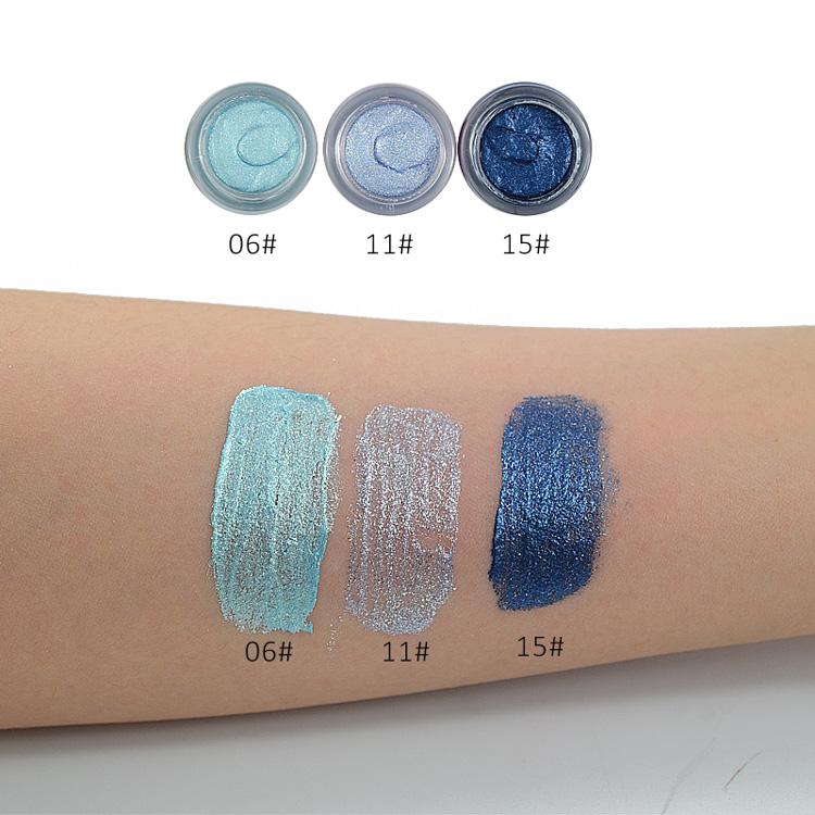 LOVE ALPHA 16 Colors Eye Shadow Professional Eyes Makeup Glitter Single Color Eyeshadow Gel Party Brand Cosmetics Flash Powder (28)