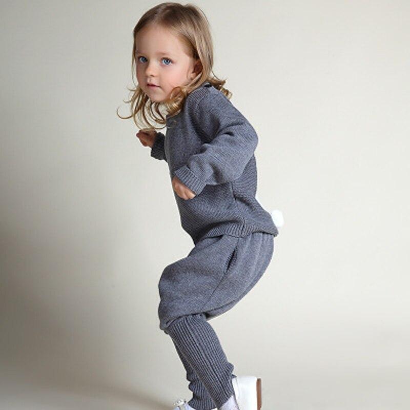 Детская одежда свитер Наборы для ухода за кожей Комплекты осенней одежды для девочек спортивный костюм малыш одежда комплект одежды для маленьких мальчиков Костюмы для новорожденных девочек