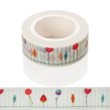 1 Pcs Japanese Washi Decorative Adhesive Tape Strawberry Candy Masking Paper Tape Diary Sticker Washi Tape Christmas