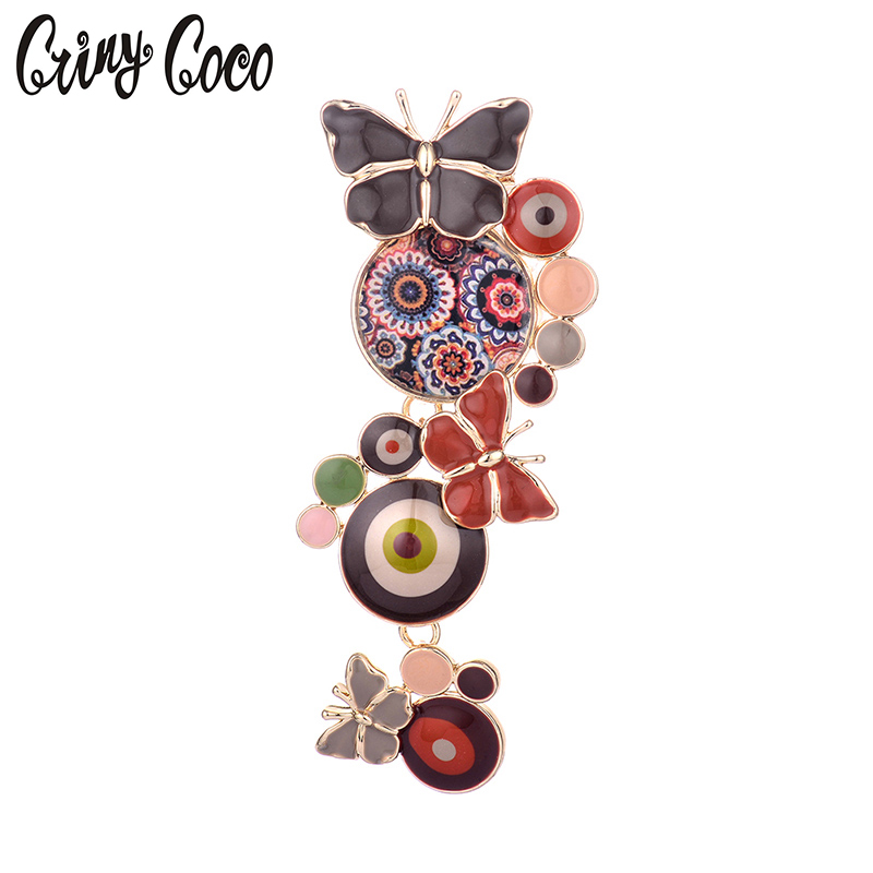 Nieuwe mode trendy broche pins chic charmante schattige vlinder emaille pins broches voor vrouwen / meisjes decoratie sieraden partij geschenken