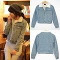 Ssy зима джинсовой верхняя одежда женская джинсовая хлопок-ватник берберские флис лайнер ватные куртки джинсовые пальто 9823