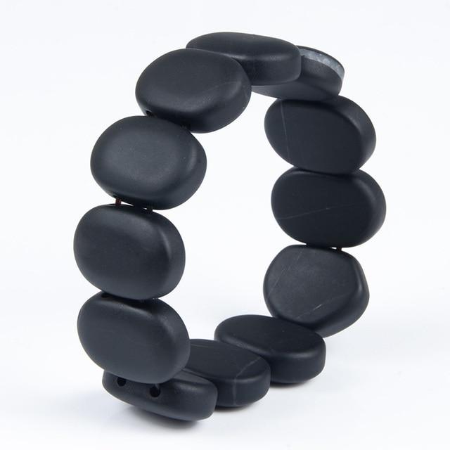 Bianshi Black Bian Natural Stone Bianshi Carve Black Bracelet For Men&Women jewelry