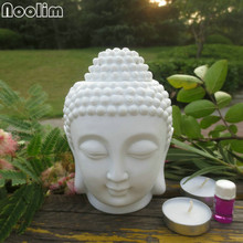 Ароматическая масляная горелка NOOLIM с головой Будды, керамическая лампа для ароматерапии, ароматическая печь, масляная лампа, домашний декор, ароматическая горелка