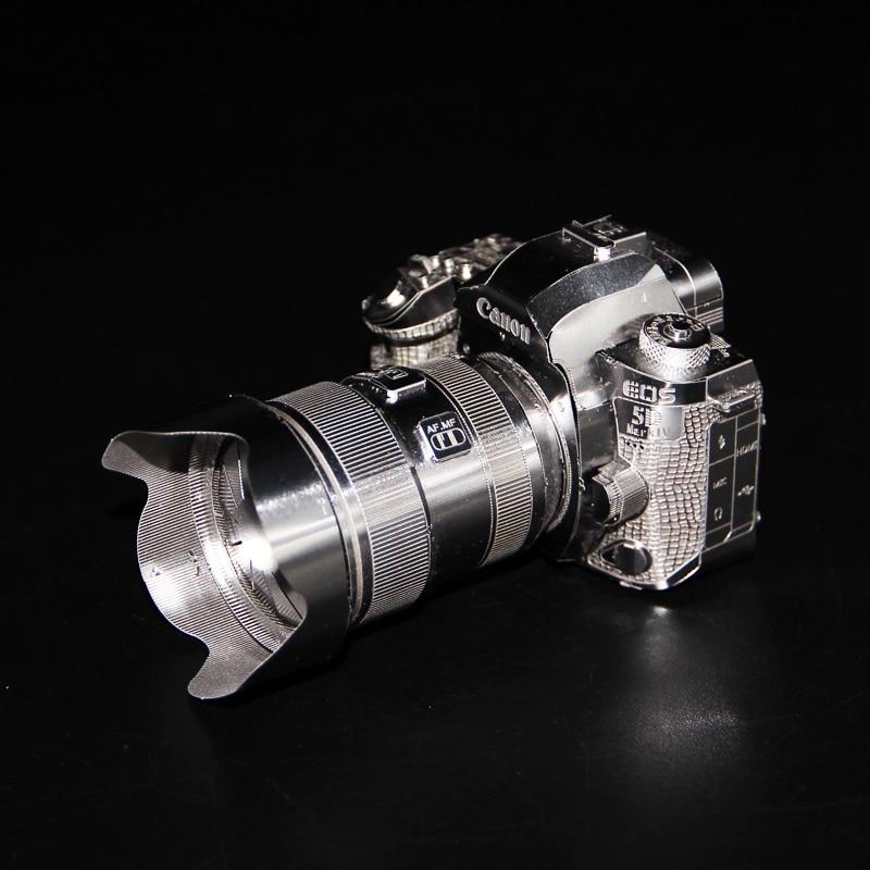 2018 3D Metal Nano Puzzle Camera Canon Building Model Kits B011 DIY 3D Laser Cut Jigsaw Toys For Audit himeji castle 3d metal model metallic nano laser cut building puzzle educational diy assembling toy