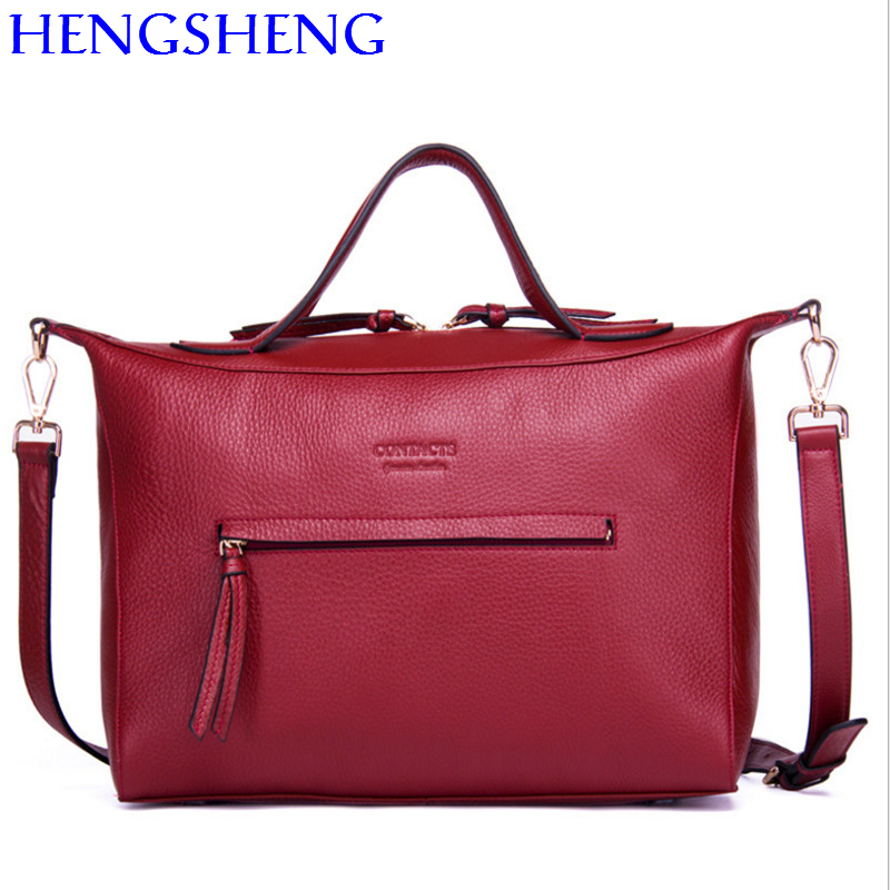 Hengsheng quality genuine leather women handbag with cow leather female shoulder bag women messenger bag fashion red women bags women messenger bags cow split leather bag female handbag fashion crocodile evening bags red shoulder bag handbags bolsa tasche