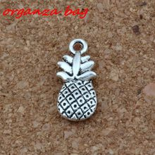 MIC  150 Pcs Antique Silver Alloy pineapple Charms DIY Jewelry 9x19mm nm343