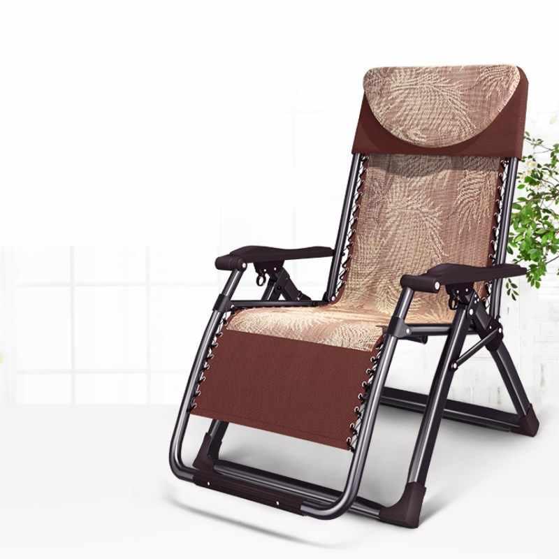 Jardim Mobiliário Conversível A1 Portátil Folding Poltrona Chaise Lounge com Encosto de Cabeça Ajustável do Ângulo de Inclinação Forte Pátio Espreguiçadeira