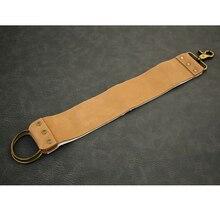 Холщовый кожаный точильный ремень для правки бритвы для парикмахерской прямой бритвенный складной нож