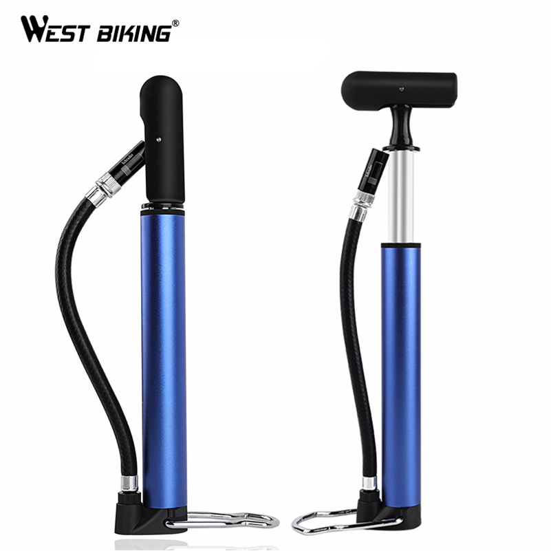 WEST BIKING Bike Pump Bicycle Tire Portable Inflator Air Pump 100PSI Mountain Road Bike Accessories for Cycling MTB Bicycle Pump airbone bike pump bicycle tire inflator air pump mountain road bike mtb cycling air press frame accessories