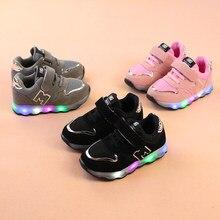 Новинка 2019 года световой спортивная обувь корзина Led светящаяся обувь для детей обувь для мальчиков с подсветкой красовки tenis infantil светящиеся