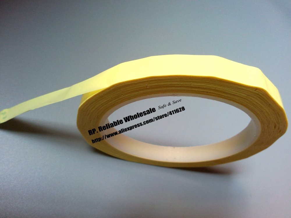 1 Roll 15mm*66M*0.06mm PET High Temperature Insulating Anti-Flame Adhesive Mylar Tape For Transformer Yellow