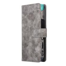 JINXINGCHENG bolsa protectora para mujer, funda tipo billetera para iqos 2,4 Plus, accesorios de cuero PU