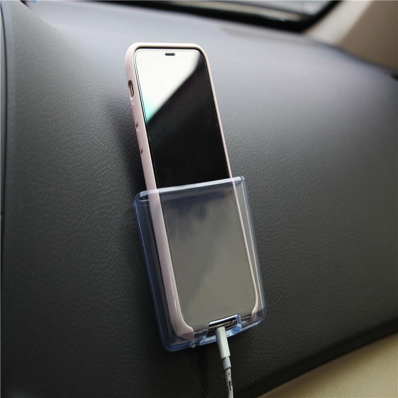 Прозрачный автомобиль универсальный держатель телефона заряда телефона коробка для <font><b>Volvo</b></font> S40 S60 S80 XC60 XC90 V40 V60 любых автомобилей