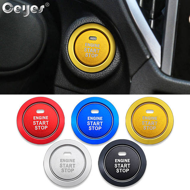 Ceyes רכב מנוע Start Stop לחצן טבעת סטיילינג מדבקות אביזרי רכב מקרה עבור סובארו BRZ אימפרזה XV פורסטר אאוטבק Legacy