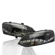 Бампер лампа для поло фары 2011 2012 2013 светодиодный задний фонарь для поло DRL Объектив Двойной Луч Ксенон