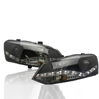 Bumper lamp for Polo Headlights 2011 2012 2013 2014 2015 2016 2017 LED taillight for polo DRL Lens Double Beam HID Xenon