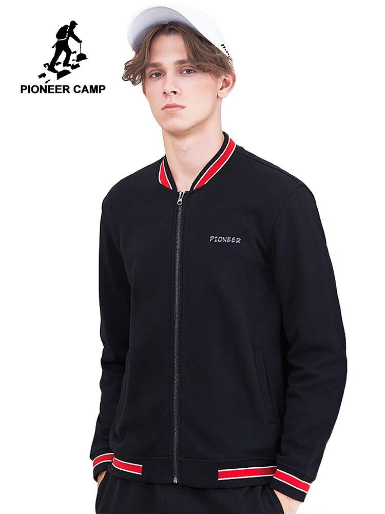 Мужская Флисовая Куртка Pioneer camp, теплая куртка с воротником-стойкой, AJK802218