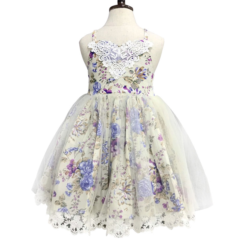 Little Girl Party Dress Floral Girls Dress Sleeveless Ball Gown Baby Tutu Princess Dress Kids Dresses For Girls Children Clothes академия групп набор фломастеров 12 шт принцессы дисней