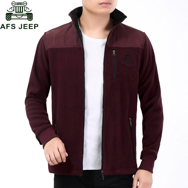 AFS JEEP 2016 Big Size M-3XL Autumn/Winter Men's Jackets Solid Fashion Coats Male Casual Slim Stand Collar Jacket Men Outerwear