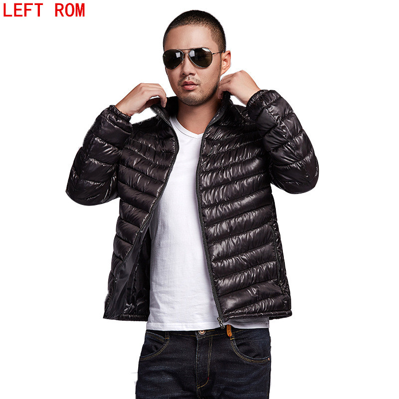2017 New Casual Brand White Duck Down Jacket Men Autumn Winter Warm Coat Men's Ultralight Duck Down Jacket Male Windproof Parka