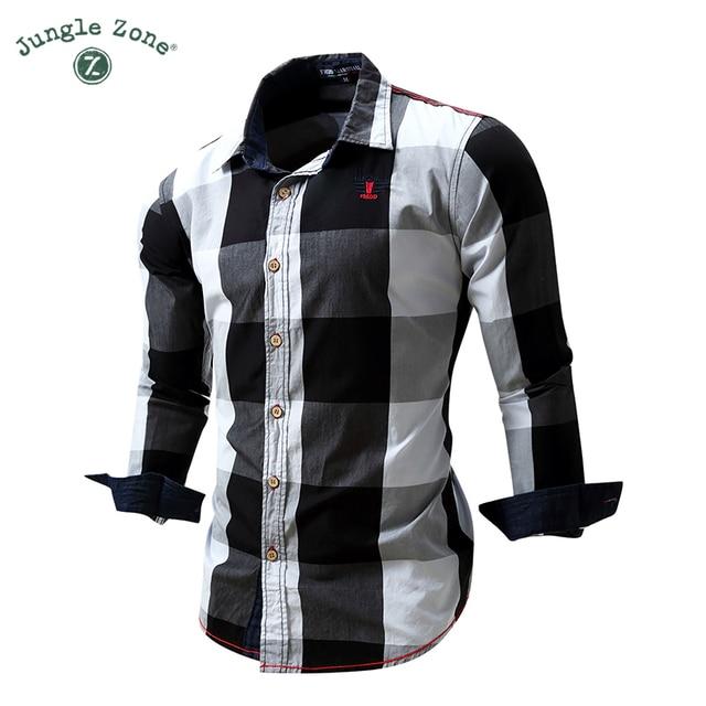 f571feb13b Top quality camisa xadrez masculina camisa manga longa masculina 100% algodão  camisas masculinas 2017 camisas