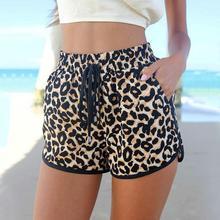 Fashion Women Girls Casual Shorts Leopard Stretchy Beach Summer Shorts 7993