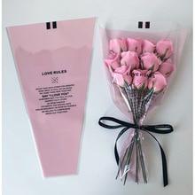 50pcs/lot Transparent Mini Bouquet Bag Single Rose Bag Flower Wrapping Paper Florist Supplies