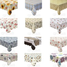 Table cloth Waterproof & Oilproof Vinyl+Flannel Tablecloth Dining Kitchen Cover Protector Oilcloth Fabric Covering