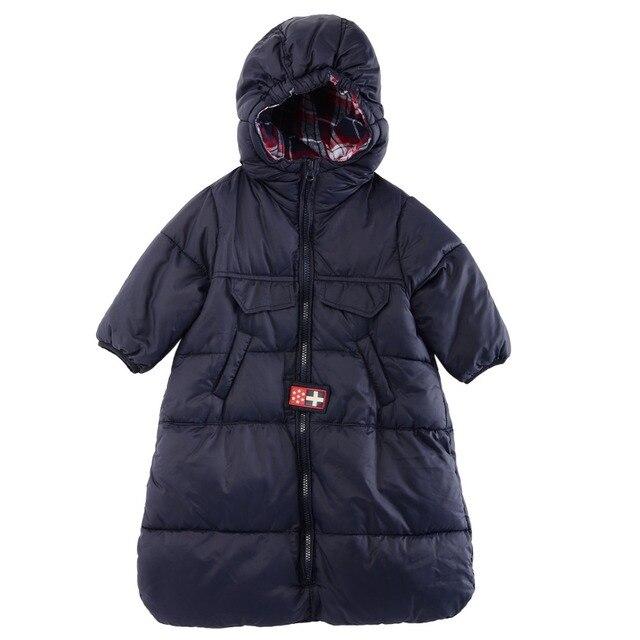 Luvena Фортуна Новый Модная одежда для детей, Детская мода спальный мешок с капюшоном верхняя одежда для детей зимний конверт для новорожденных ветрозащитный коляска теплая Sleepsack